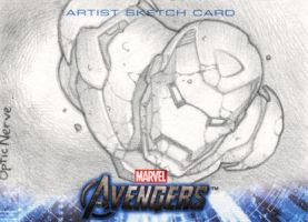 Avengers Assemble Sketchcards - Iron Man by theopticnerve