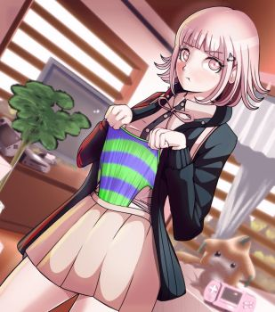 Chiaki Nanami- self wedgie (by Black-Rayal) by TheFairytaler
