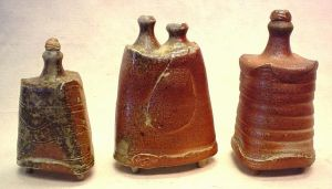 Wood Fired Bottles  pottery by anubistj
