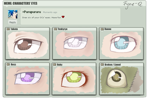 Draw your characters' eyes meme XD by Fyne-Q