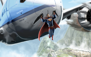 Superman Saves Jet to Peru by michealoduibhir