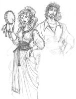 Gypsies Sketch by Arcturion