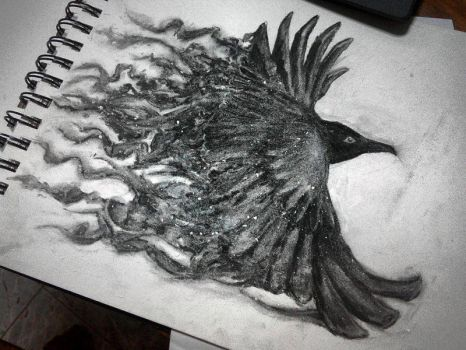 Charcoal Crow by tux20