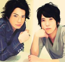 Arashi - Matsujun and Nino by Nia2x