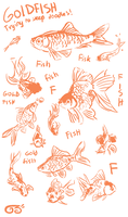 Goldfish sketches by griffsnuff