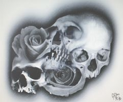 skull rose merge b by BMXNINJA