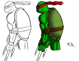 Unfinished Raphael practice by ShadowNinja976