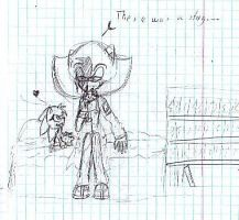 Ratchet and Eline - There was a story... Sketch by DerianaTheHedgehog