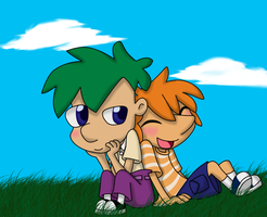 PaF: Phineas and Ferb by wakamolez