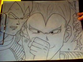 vegeta refinised,still uninked by DrCropes