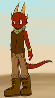Ved the Horned Lizard by VedtheFlameDevil