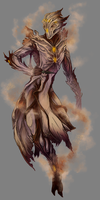 Commission: Ifrit Warframe for Chrispy92 by PanzerTheTank