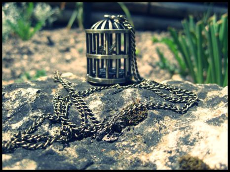 Bird Cage Necklace Watch by Karinui
