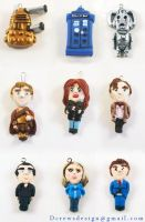 Doctor Who Charms by Skyelark