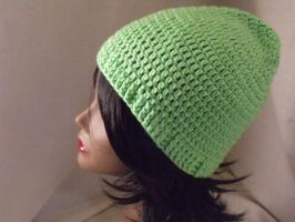 Crocheted Lime Green Slouchy by 75redmage