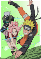 Team 7 from 2nd artbook by Tiara21