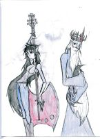 The Vampire Queen and The Ice King by hailenvy