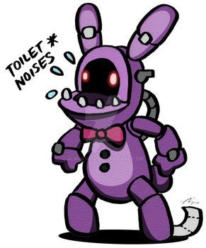 FNAF2 Toilet Bonnie by alphanite