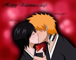 IchiRuki Valentine's day by AlyssasART