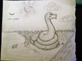 Toon Snake by TheDragonInTheCenter