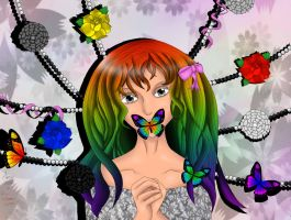 Butterfly Girl - Colored by Mind-Like-A-Puzzle