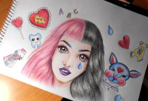 Melanie Martinez Drawing by UchihaAkanee
