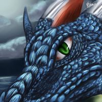 PTSai Blue Dragon by Pink-Shimmer