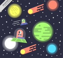 Space alien illustration vector by FreeIconsdownload