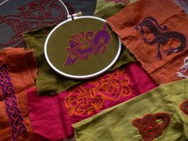 Viking embroideries by Symbelmune