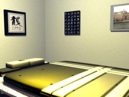 My room- Bed and Posters by FiendishMax