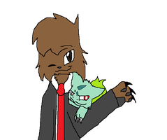 Jerome and Bulbasaur by rosetheeevee12