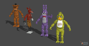 FIVE NIGHT AT FREDDY'S MODEL PACK by OoFiLoO