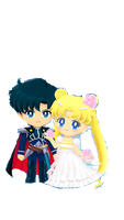 Sailor Moon Drops endymion and serenity by tm6675