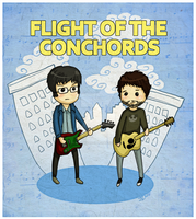 Flight of the Conchords by RetkiKosmos