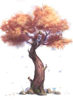 Happiness In A Tree by mikenart