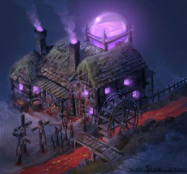 Horror Mill color concept1 by Paintangel13