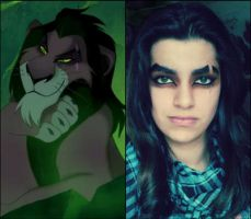 Scar/Taka Makeup tryout by LightningKenway
