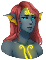 Syreni Bust by Chocolace