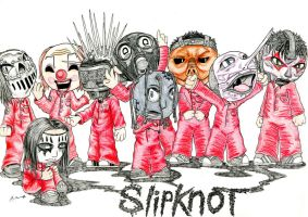 Rock and Metal Chibis: Slipknot by HypoThermus