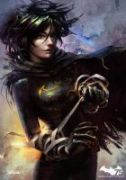 Black Bat . Cassandra Cain by yoshiyaki