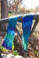 Entrelac Scarf by Jennfrog