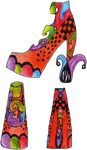 Abstract Heel Shoes by FallenAngel13xX