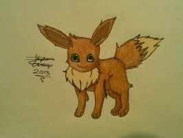 Eevee Drawing by Miku-chan9