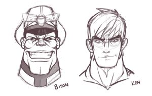 STREET FIGHTER PROJECT: ROUGHS by taves