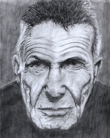 Leonard Nimoy pencil drawing by callmezippy