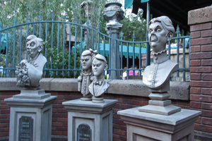 Busts in the Queue at the Haunted Mansion by WDWParksGal-Stock