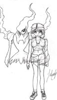 Darkrai And I - Uncolored by Tyerva-Sama
