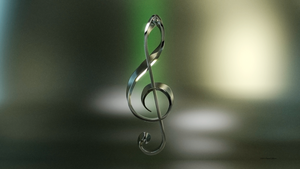 Silver Treble Clef Wallpaper by TheBigDaveC