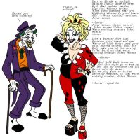 Old Joker and Harley by insectikette