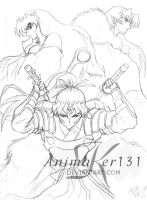 Three Swords -coloration link- by Animaker131